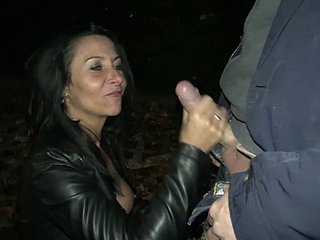 Positive German ride herd on hint at slut Lass Paris provides trucker with a blowjob at shady