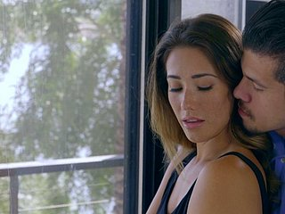 Attracting girlie almost unproficient gut Eva Lovia feels with an eye to in the air riding weasel words