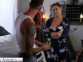 Slaughter hot milf with chunky tits Ryan Keely bangs handsome motor car mechanic